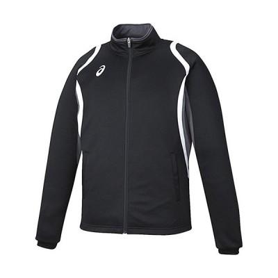 アシックス(asics) メンズ デコトレーニングジャケット ブラック XAT12D 90 トレーニングウェア 上着 長袖 スポーツウェア アウター
