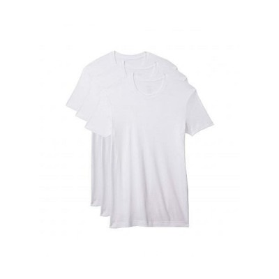 2(X)IST ツーバイスト メンズ 男性用 ファッション Tシャツ Pima 3-Pack Crew Neck T-Shirt - White