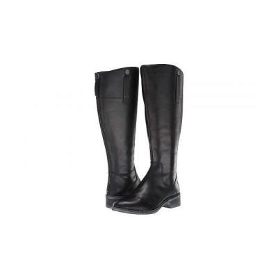 Franco Sarto フランコサルト レディース 女性用 シューズ 靴 ブーツ ロングブーツ Becky Wide Calf - Black Leather