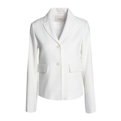 MAJE テーラードジャケット アイボリー 40 ポリエステル 69% / レーヨン 30% / ポリウレタン 1% テーラードジャケット