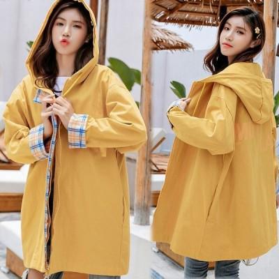 ジャンパー レディース おしゃれ 韓国 10代 20代 高校生 ファッション チェック柄 タータン 大きいサイズ アウター パーカー 2061