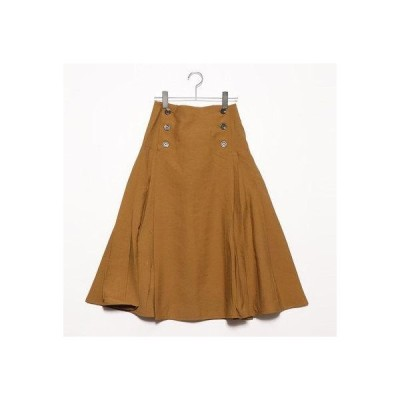 スタイルブロック STYLEBLOCK ファイユプリーツスカート (キャメル)