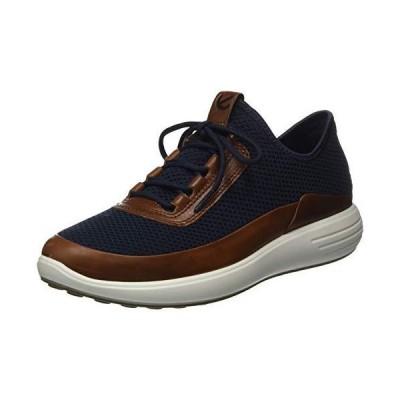 ECCO Men's Soft 7 Runner Summer Sneaker Amber/Marine 8-8.5 並行輸入品