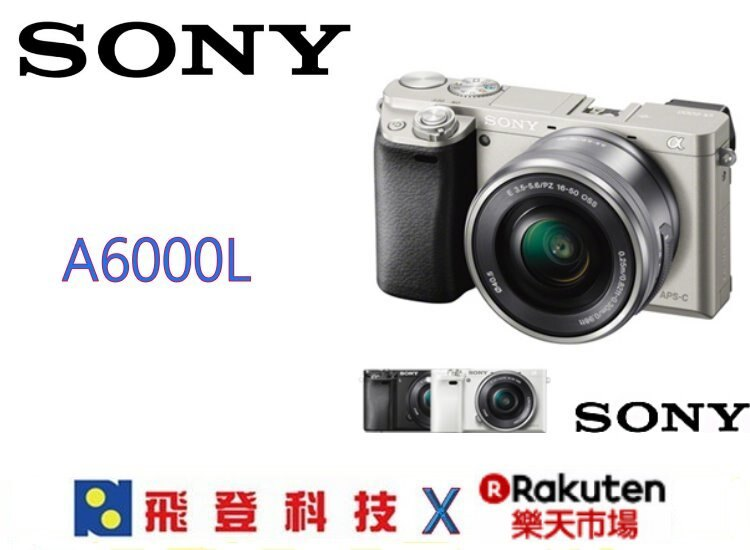 SONY A6000L  16-50 微單眼相機 含稅公司貨開發票