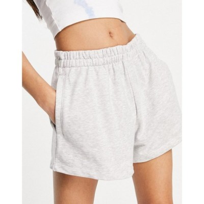 ウィークデイ Weekday レディース ショートパンツ ボトムス・パンツ Kama Organic Cotton Pull On Shorts In Light Grey ライトグレー