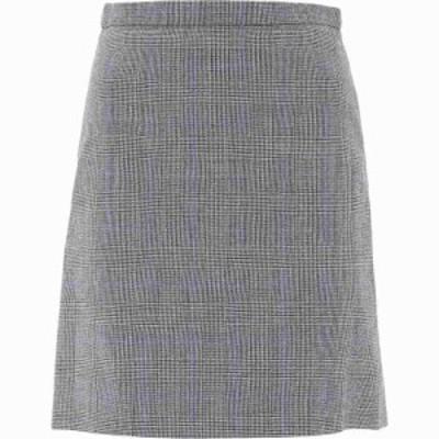 アレキサンダー マックイーン Alexander McQueen レディース ミニスカート スカート Tartan Wool Skirt Gray