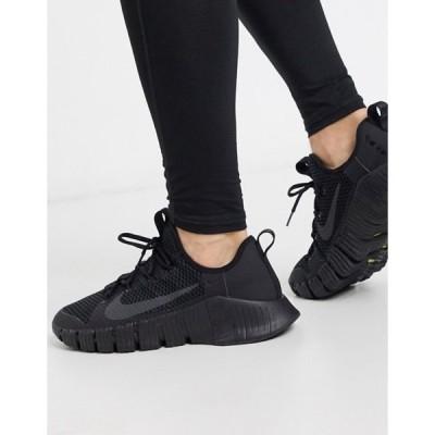 ナイキ メンズ スニーカー シューズ Nike Training Free Metcon 3 sneakers in triple black