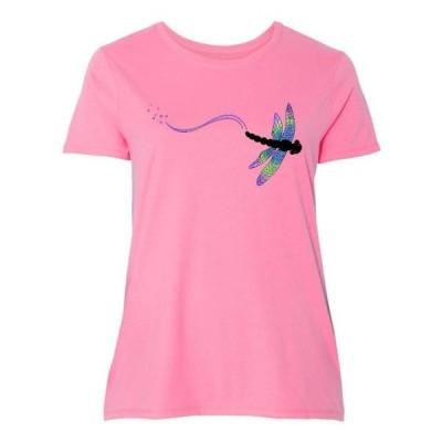 レディース 衣類 トップス Dragonfly Women's Plus Size T-Shirt Tシャツ