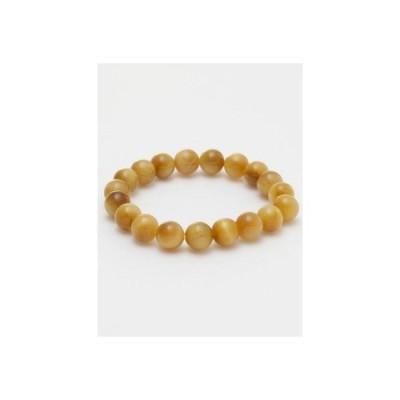 【岩座】ゴールデンタイガーアイブレスレット/腕輪数珠 10mm玉天然石 3A ゴールド