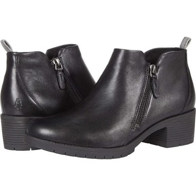 ハッシュパピー Hadley Side Zip レディース ブーツ Black Leather