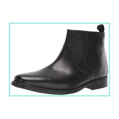 【新品】Clarks Men's Tilden Zip II Waterproof Boot Ankle, Black Leather, 12 M US(並行輸入品)
