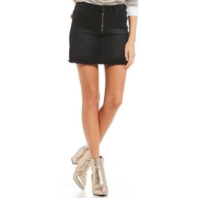 ジービー レディース スカート ボトムス Exposed Zipper Denim Mini Skirt