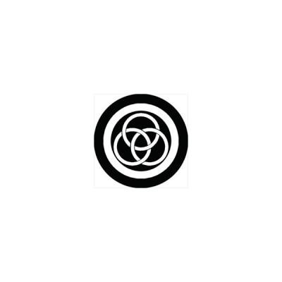 家紋シール 丸に三つ輪違い紋 直径24cm 丸型 白紋 KS24M-0591W