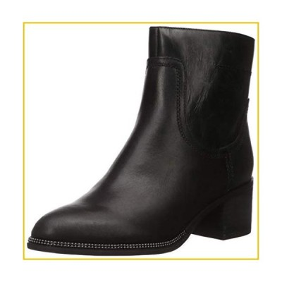 Franco Sarto Women's Liliana Chelsea Boot, Black Leather, 7 M US