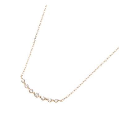 【ココシュニック/COCOSHNIK】 K18ダイヤモンド グラデーション7石 ネックレス