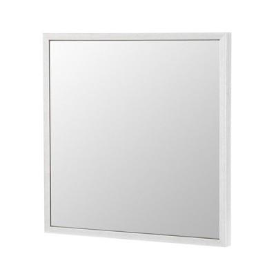 塩川光明堂 国産 ウォールミラー フィル スクエア WH ホワイト ミラー 鏡 代引不可