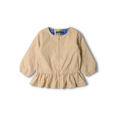 【moujonjon】無地・花柄刺繍裾フリルジャケット
