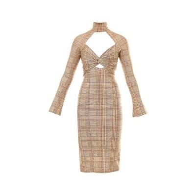 バーバリー レディース ワンピース トップス Burberry Checked Cut-Out Dress -