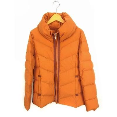 【中古】クリスモンテス Chris montez ダウンジャケット 上着 アウター ナイロン フード ジップアップ オレンジ系 1 レディース 【ベクトル 古着】