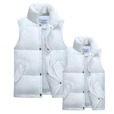 3色  メンズベスト ダウンベスト 中綿ベスト 中綿コート キルトコート ジャケット  男女兼用 カジュアル  無地  大きいサイズ