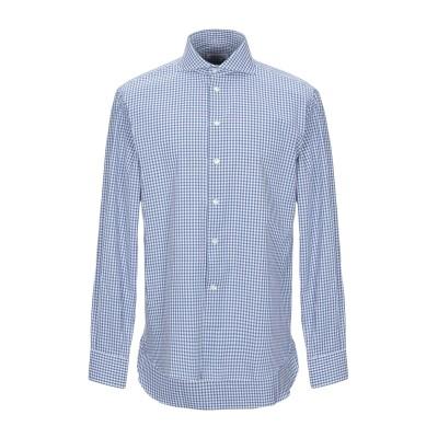 BRANCACCIO シャツ ブルー 44 コットン 100% シャツ