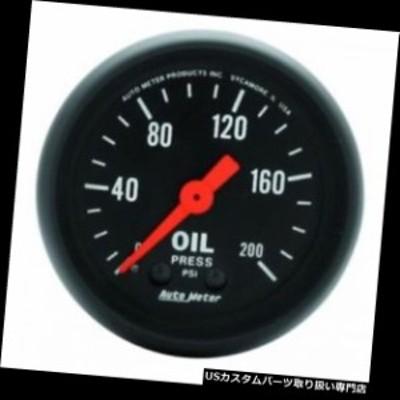 """タコメーター オートメーター2605 2-1 / 16 """"Zシリーズメカニカル油圧ゲージ、0-200 PSI  Auto Me"""