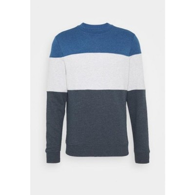 トム テイラー メンズ ファッション CREWNECK WITH CUTLINE - Sweatshirt - sky captain blue