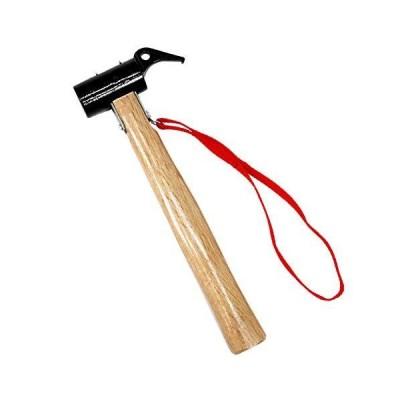 M-STYLE ペグハンマー スチール ヘッド 木製 ハンドル アウトドア ハンマー