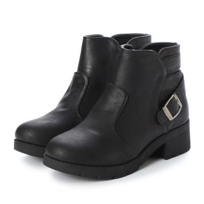 ジェミニ GeMini ブーツ レディース ショート 黒 エンジニアブーツ ブーツ ショートブーツ ワークブーツ 8311 (Black)