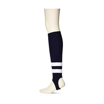 [エスエスケイ] ベースボールウェア ローカットストッキング(リブ編み) [メンズ] YA2201 ネイビー×ホワイト×ホワイト (70W)