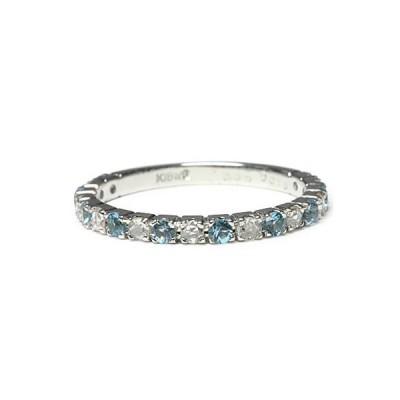 リング 指輪 レディース スカイブルートパーズ ローズカットダイヤモンドリング 誕生石 4月 11月
