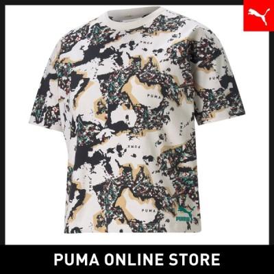 最短当日出荷 プーマ レディース 半袖Tシャツ PUMA RE.GEN AOP Tシャツ ウィメンズ