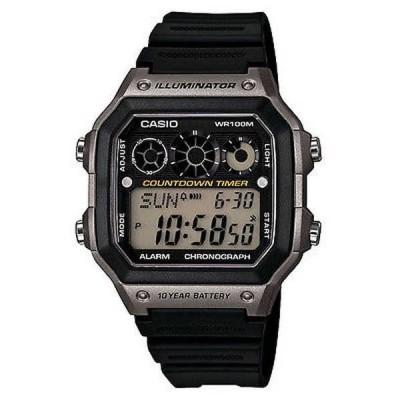 腕時計 カシオ Casio AE1300WH-8A メンズ レジン バンド World Time アラーム クロノグラフ Referee Timer 腕時計