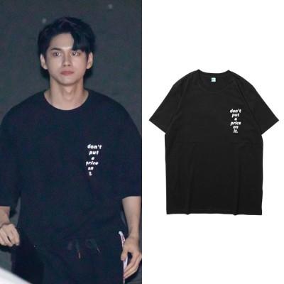 320大人気!Wanna One週辺SEONG WU同じデザイン半袖Tシャツ 韓国ファッション tシャツ  男女兼用  トップス 韓国