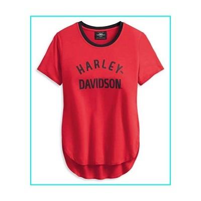 Harley-Davidson Women's Distressed H-D One Short Sleeve Tee 96195-20VW (XL) Red【並行輸入品】