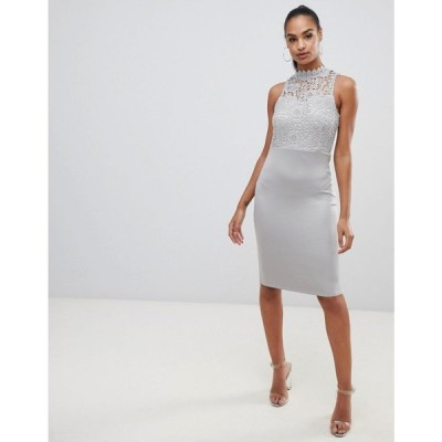 アックスパリス AX Paris レディース ワンピース ワンピース・ドレス lace midi dress Grey