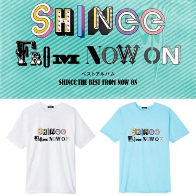 大人気!SHINee THE BEST FROM NOW ONアルバム週辺 半袖Tシャツ 韓国ファッション tシャツ  男女兼用  トップス 韓国