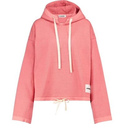 ジル サンダー Jil Sander レディース パーカー トップス Cotton jersey hoodie Bright Red