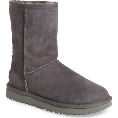 アグ UGG レディース ブーツ シアリング シューズ・靴 Classic II Genuine Shearling Lined Short Boot Grey Suede