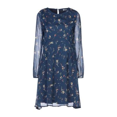 リュー ジョー LIU •JO ミニワンピース&ドレス ダークブルー 42 シルク 100% ミニワンピース&ドレス