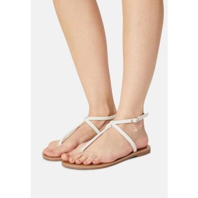 レディース 靴 シューズ T-bar sandals - white