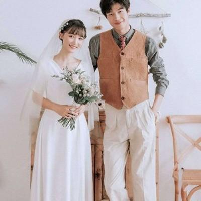レディース ウェディングドレス お呼ばれドレス パーティードレス ワンピース 花嫁 結婚式 コンサート ロング丈 大きいサイズあり 長袖