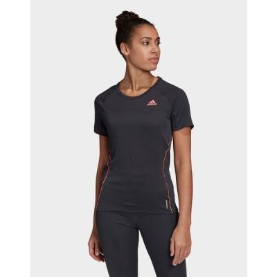 アディダス adidas レディース フィットネス・トレーニング Tシャツ トップス runner t-shirt black
