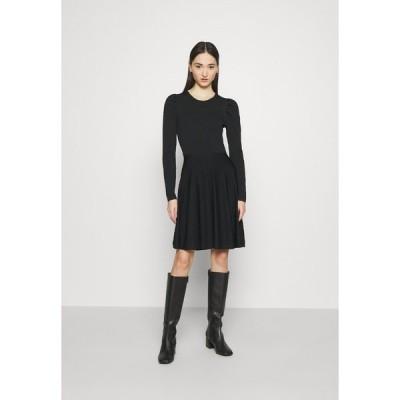 ヤス ワンピース レディース トップス YASBECCO PUFF SLEEVE DRESS - Day dress - black