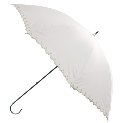 ダブルピーシー Wpc. 日傘遮光星柄スカラップ (オフホワイト)