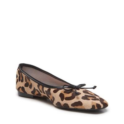 シュッツ レディース サンダル シューズ Arissa Leopard-Print Fur Ballet Flats