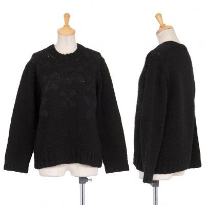 トリココムデギャルソンtricot COMME des GARCONS X柄編みニットセーター 黒M位 【レディース】