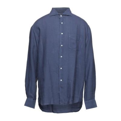 FEDELI シャツ ブルー 44 リネン 100% シャツ