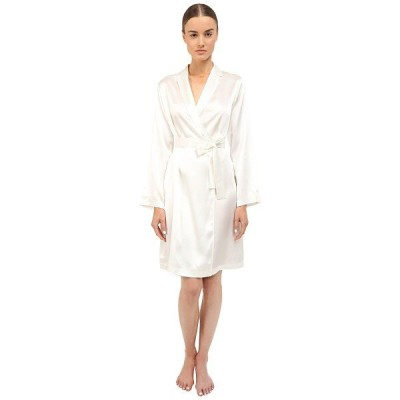 ラ ペラル ナイトウェア レディース Silk Short Robe Natural