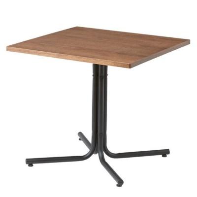 『ダリオ カフェテーブル』 カフェテーブル ダイニングテーブル 食卓テーブル おしゃれ 北欧 ナチュラル カフェ風 木製 スチール脚 正方形 スクエア 送料無料